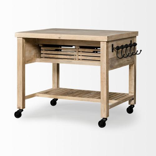 Modern Farmhouse Rolling Kitchen Island or Bar Cart. 380613