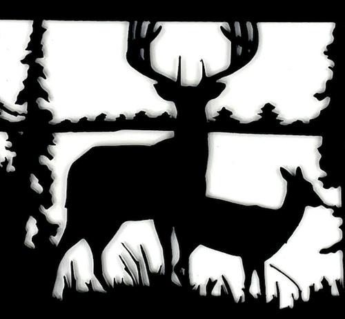 Rustic Deer In Woods USA Steel Wood Burning Firepit. 383790