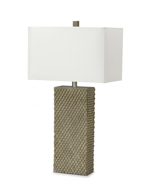 Set of 2 Golden Waffle Table Lamp. 384398