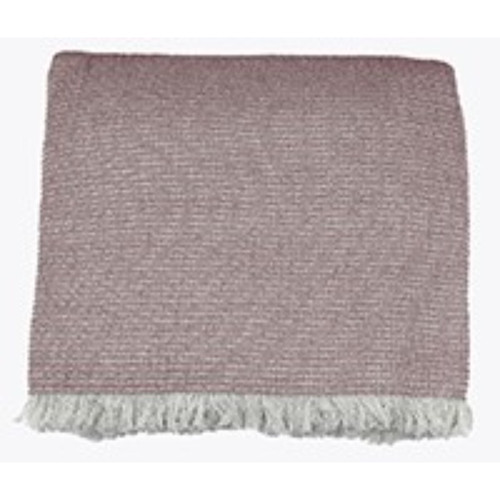 Soft Pink Cotton Chambray Waffle Weave Throw Blanket. 384429