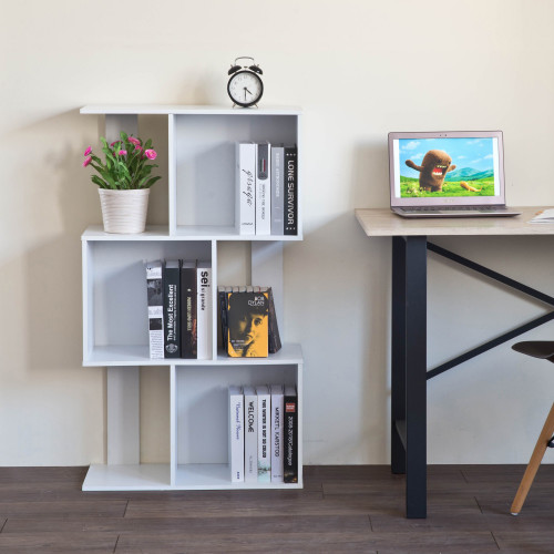 Mod White Finish Open Cube 3 Shelf Bookcase. 384433