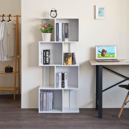 Mod White Finish Open Cube 4 Shelf Bookcase. 384434