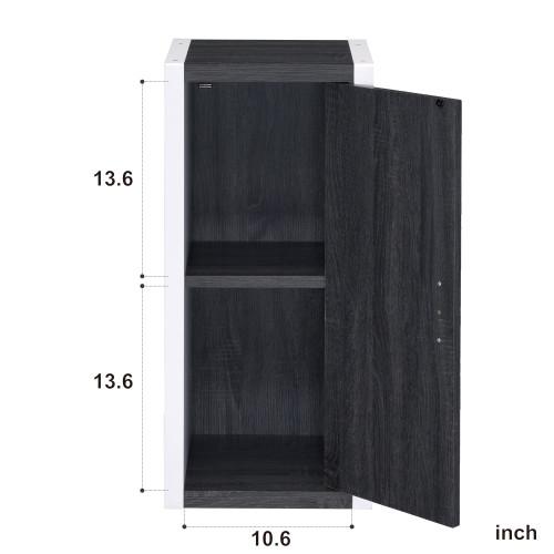 Versatile White and Gray Single Door Bookshelf. 384461