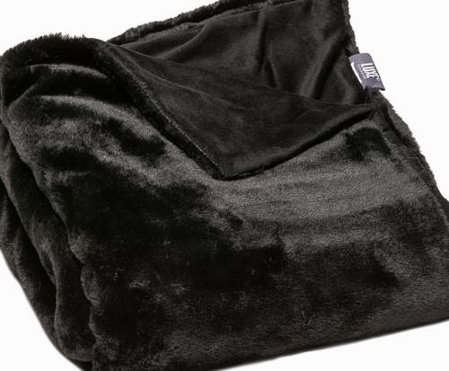 Premier Luxury Black Super Soft Faux Fur Throw Blanket. 386750