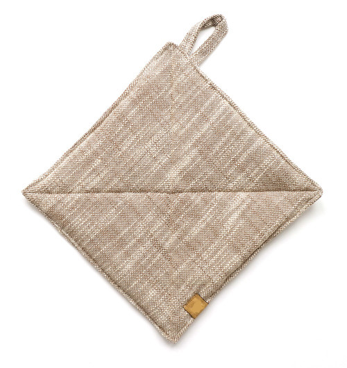 Set of Light Brown Pear Design Apron with Two Trivets. 388922