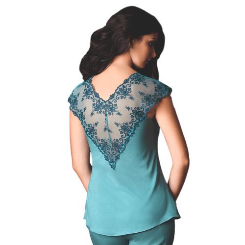Sheer Lace Transparent Pajama Top Vova Lingerie Cosima- Famous Latvian Made
