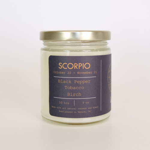 Scorpio, Zodiac Candle -Spiritual Awakening