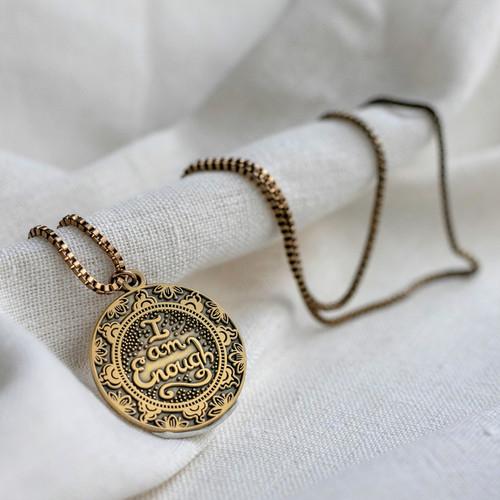 I Am Enough- Gold Necklace