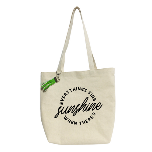 Everything´s Fine Sunshine... Reusable & washable Canvas Tote bag