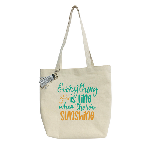 Everything is fine when... Reusable& washable Canvas Tote bag