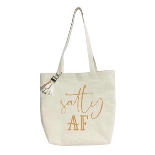 Salty AF- Reusable & washable Canvas Tote bag