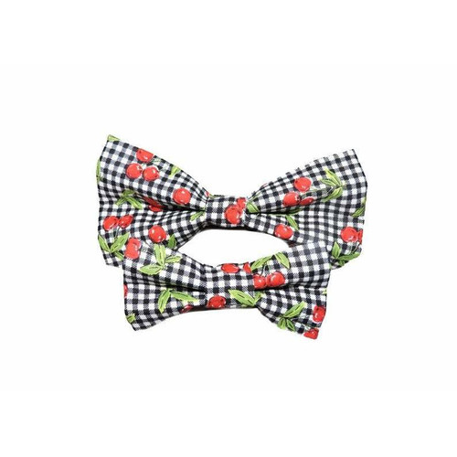 Cherry Pie Dog Bow tie- Make Your Pup Extra Dope