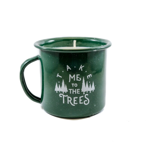 The Trees Enamel Cup Natural Soy Candle