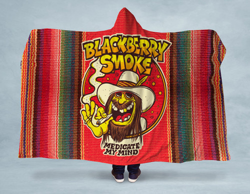 BlackBerry Mexican Amazing Hooded Blanket With Premium Sherpa