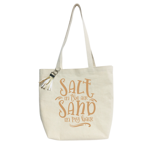 """""""Salt in the air""""- Reusable &  washable Canvas Tote bag"""