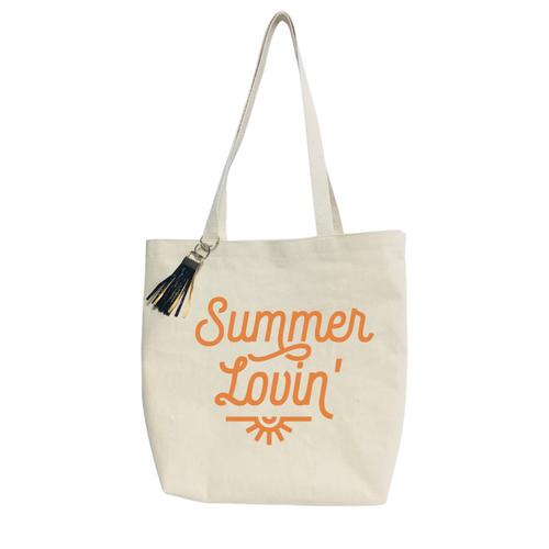 Summer Lovin´  Reusable &  washable Canvas Tote bag