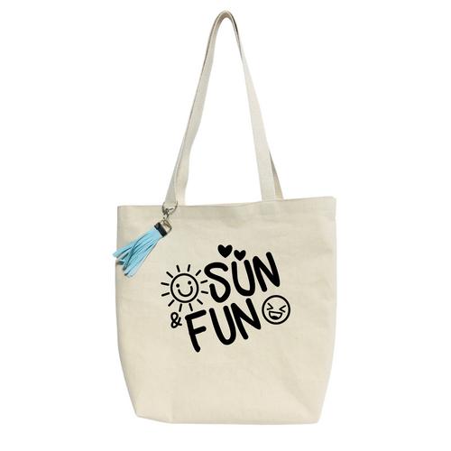 Sun Fun Reusable & washable Canvas Tote bag