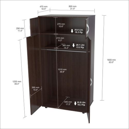 Espresso Finish Wood Wardrobe with Four Doors. 249833