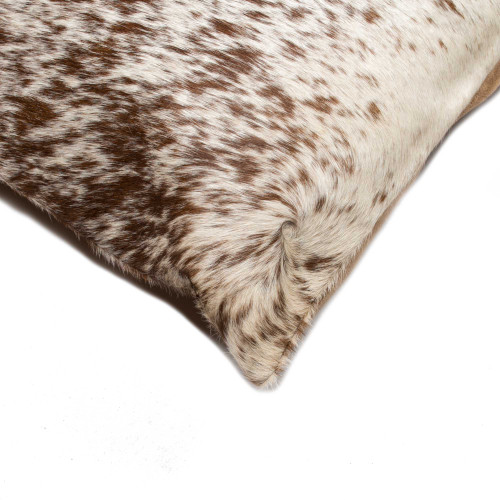 """18"""" x 18"""" x 5"""" Salt And Pepper Chocolate And White Cowhide  Pillow 2 Pack. 317135"""