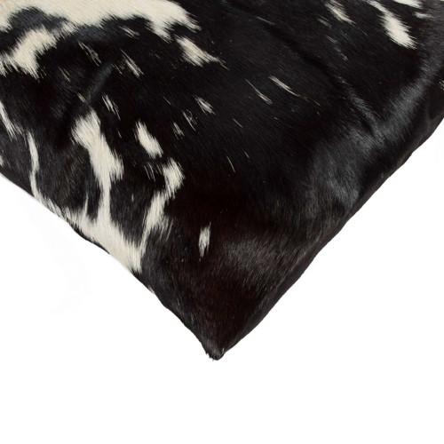 "12"" x 20"" x 5"" Black and White Torino Kobe Cowhide  Pillow. 328241"