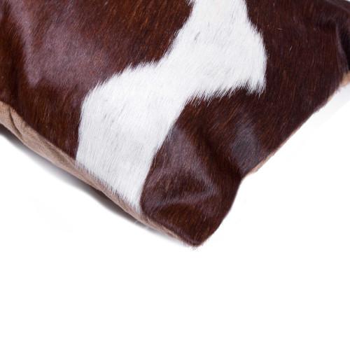 "12"" x 20"" x 5"" Chocolate And White Torino Kobe Cowhide  Pillow. 328242"