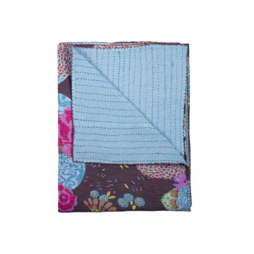 "50"" x 70"" Multicolored, Kantha Cotton - Throw. 332338"