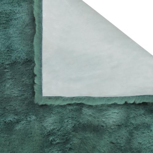 2' X 3' Green Natural Off-White Medical Grade Sheepskin Throw Blanket. 388644