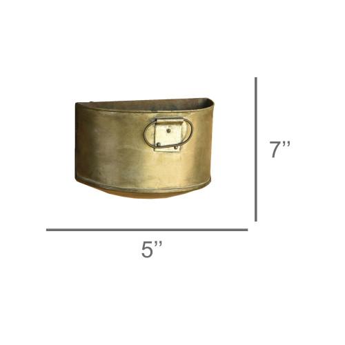 Set of 2 Half Bucket Metal Planter. 388896
