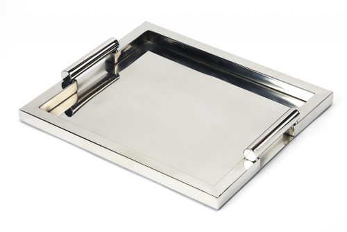 Modern Stainless Steel Serving Tray. 388899