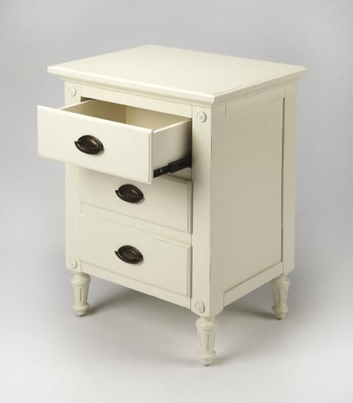 Mahogany White 3 Drawer Nightstand. 388904