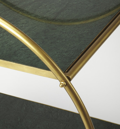 Modern Gold and Green Marble Rolling Server. 388946