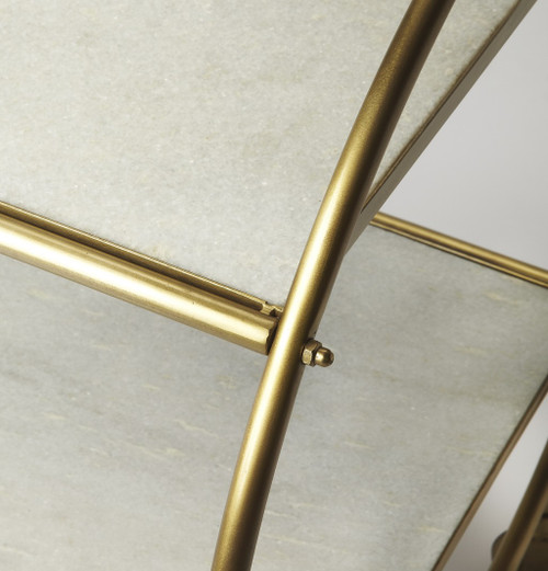 Modern Gold and White Marble Rolling Server. 388947