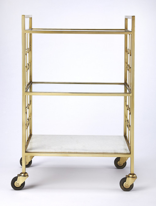 Polished Gold Bar Cart. 388955