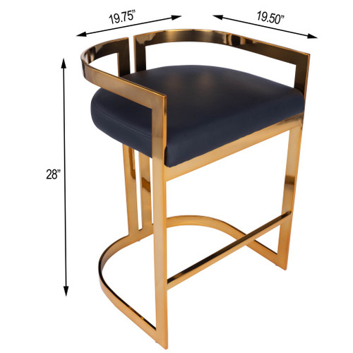 Gold and Black Faux Leather Counter Stool. 389129