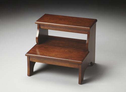 Handcrafted Chestnut Burl Step Stool. 389146