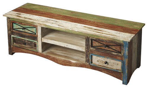 Decatur Recycled Wood Entertainment Console. 389230