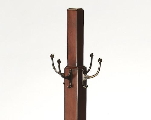 Webster Antique Cherry Coat Rack Tree. 389260