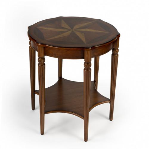 Bainbridge Olive Ash Burl Accent Table. 389907