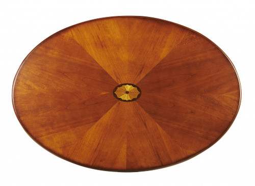 Clayton Olive Ash Burl Oval Coffee Table. 389917