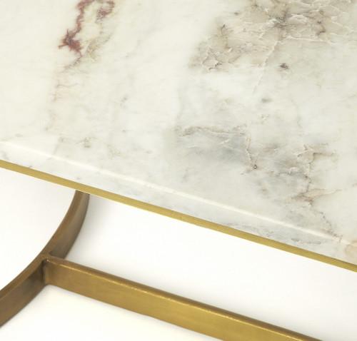 Corsini Marble & Metal Coffee Table. 389939