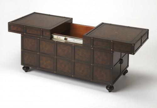 Dennard Faux Leather Storage Coffee Table. 389947
