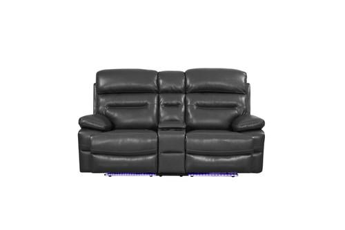 "210"" X 120"" X 123"" Gray  Power Reclining Sofa Set. 366320"