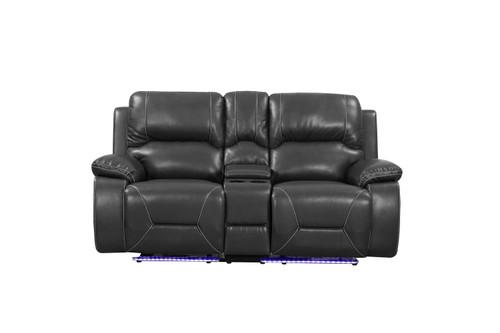 "210"" X 120"" X 120"" Gray  Power Reclining Sofa Set. 366345"