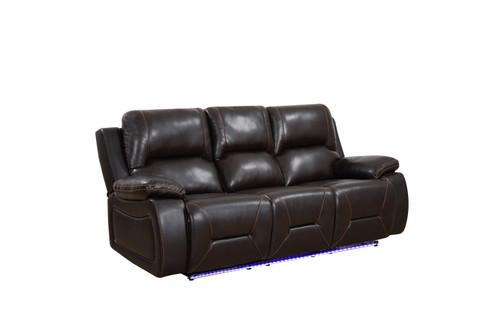 "166"" X 80"" X 80"" Brown  Power Reclining Sofa Love. 366349"