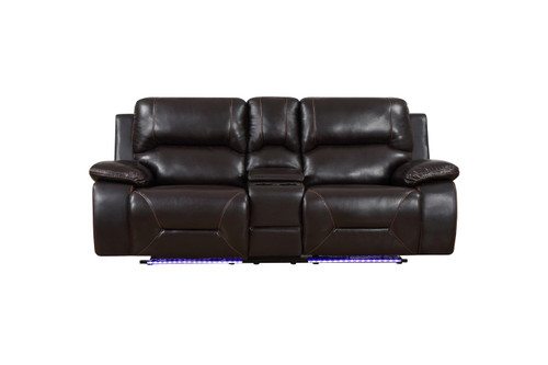 "210"" X 120"" X 120"" Brown  Power Reclining Sofa Set. 366350"