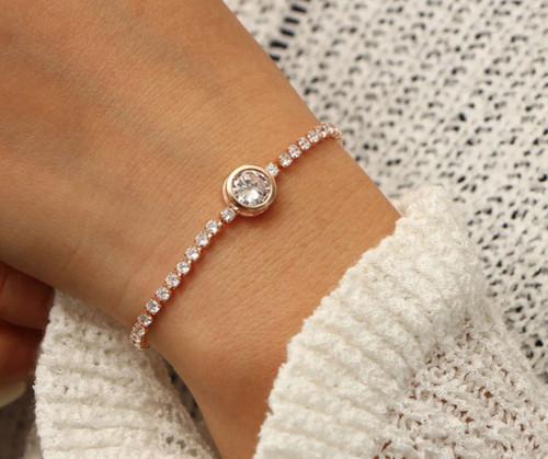 Stylish Crystal Tennis Bracelet