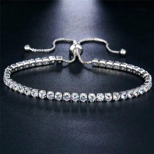 High-Quality Zinc Alloy Simple Tennis Bracelet