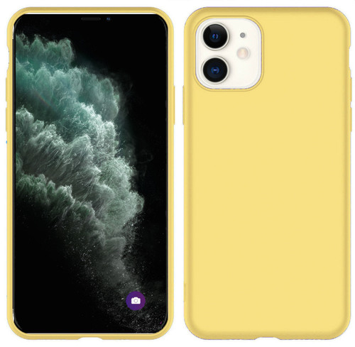 Yellow iPhone 11 Case Liquid Silicone Shockproof Slim Shell