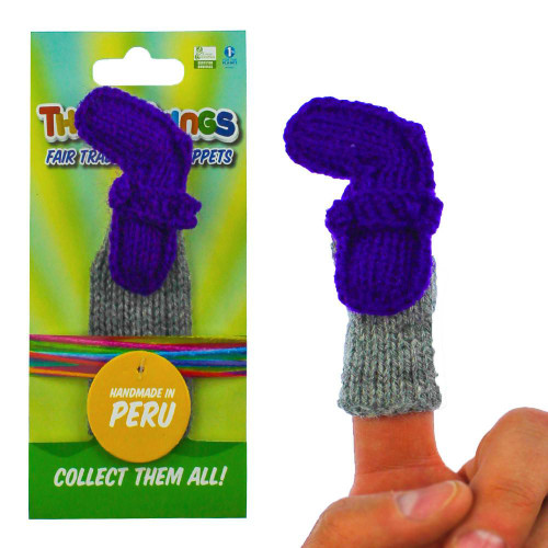 Handmade And Educational Blue Number Seven Finger Puppet