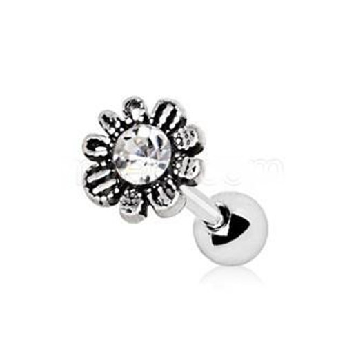 Unique 316L Stainless Steel Avant Garde Daily Flower Cartilage Earring